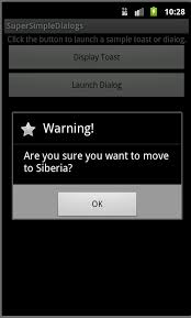 dialog android android user interface design working with dialogs