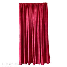 20 Ft Curtains 144 Inch High Cotton Velvet Curtains Burgundy Theater Drapes