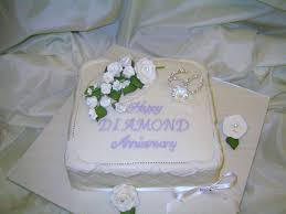 diamond wedding anniversary cakes decorating of party