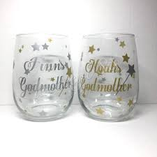 godmother wine glass godmother wine glass personalized godmother wine glass