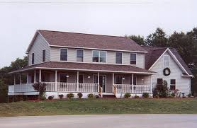 2 Story Colonial House Plans by Huge 2 Story Modular Home With Large Covered Porch 2 Story