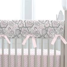 pink flower garden crib rail cover carousel designs