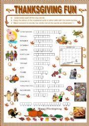 thanksgiving worksheets worksheets for all and