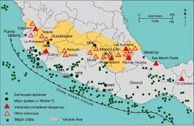 mexico on map the volcanic calderas of mexico s volcanic axis geo mexico the