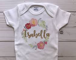 Baby Customized Gifts Custom Romper Etsy
