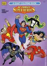 dc comics super heroes giant coloring book sc 1996 golden books