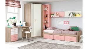 chambre lit chambre ado fille douce et avec lit 3 coffres glicerio so nuit