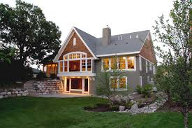 walkout basement designs golden valley lake home traditional exterior minneapolis