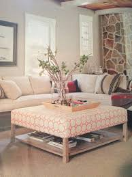 upholstered coffee table with shelf table designs plans