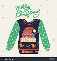 cute ugly christmas sweater sweater party stock vector 536462524