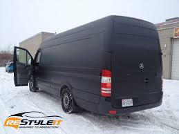 mercedes matte black matte black mercedes benz sprinter vehicle customization shop