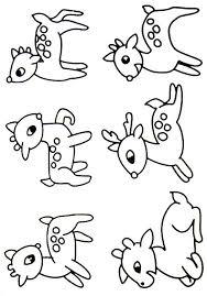 deer coloring pages kids