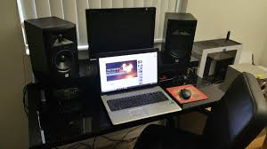 music studio desk home interior design