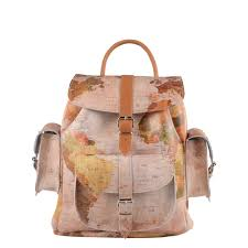 Leather Map Vintage Atlas Leather Backpack