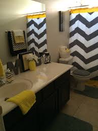 chevron bathroom ideas my new cheerful gender neutral bathroom yellow black grey and