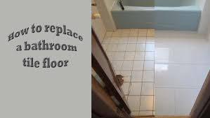 strat to finish replace old bath tile floor with new porcelain