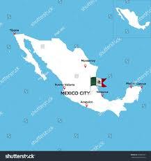 Tijuana Mexico Map Detailed Map Mexico Indexes Major Cities Stock Vector 599820107