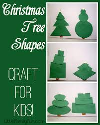 little family fun christmas tree shapes