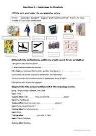 61 free esl airport worksheets