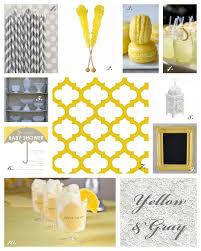 Gray And Yellow Color Schemes Sunshine Yellow U0026 Gray Baby Shower Inspiration Posh Little Designs