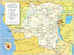 Crime Maps Democratic Republic Of Congo Map Shows Provinces And Main Roads