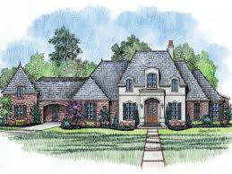 single story french country house plans