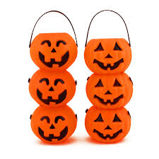 mini plastic jack o lantern halloween pumpkin party candy buckets
