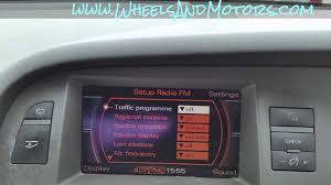 how to change menu language for mmi system of audi a6 c6 4f