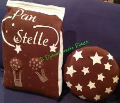 cuscino pan di stelle cuscino sacchetto pan di stelle con biscotto per la casa e per t