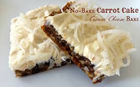 no bake carrot cake cream cheese bars u0026 ecookbook giveaway