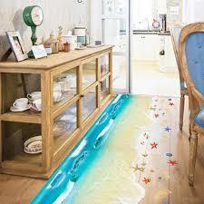 sl home decor amazon com wall sticker saingace home decor 3d beach floor wall