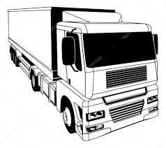 semi truck pictures black and white semi truck u2014 stock vector krisdog 23345114