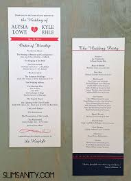 wedding programs diy affordable wedding programs slim sanity
