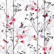 Pink Wallpaper For Walls by Muriva Eden Butterflies Wallpaper Pink 102550 Wallpaper From I