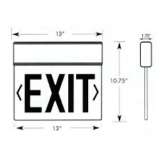 one sided surface mount one sided legend edge lit led exit signs morris