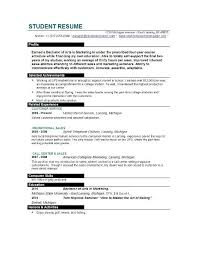 Sample Profiles For Resumes by Resume Examples Student Basic Resume Templates For Students