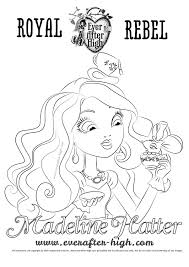 madeline hatter u0027s face coloring page ever after high