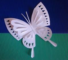 molde hacer una mariposa papel kirigami origami