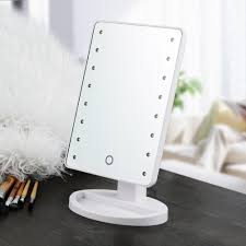 Lighted Make Up Vanity Lighted Makeup Vanity Mirror Modern Make Up Table In White Painted