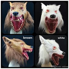 halloween party mask bloody mouth red eye new wolf masks scary