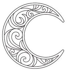 crescent moon coloring funycoloring