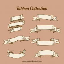 vintage ribbon selection of seven vintage ribbons vector free