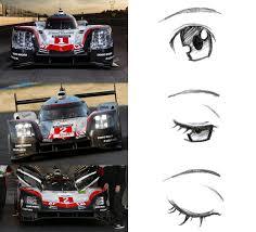 2017 porsche 919 hybrid vs anime eyes wec