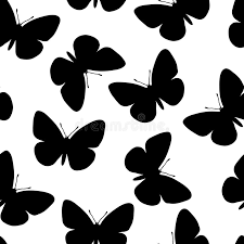 seamless butterfly pattern stock vector illustration of