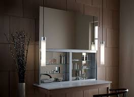 Bathroom Mirror With Storage by Bathroom Cabines With A Sleek Mirrored Door That Opens Upward
