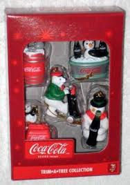 coca cola trim a tree mini ornaments 10 different coke