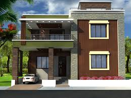 Row House Front Elevation - duplex house front elevation designs with plans trends images