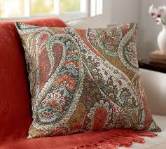 zia paisley reversible pillow cover pottery barn