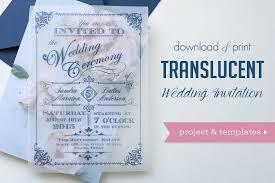 Printed Wedding Programs Download U0026 Print Diy Translucent Wedding Invitations Youtube