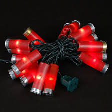 Novelty String Lights by Red Colored Shotgun Shell String Lights Novelty Lights Inc